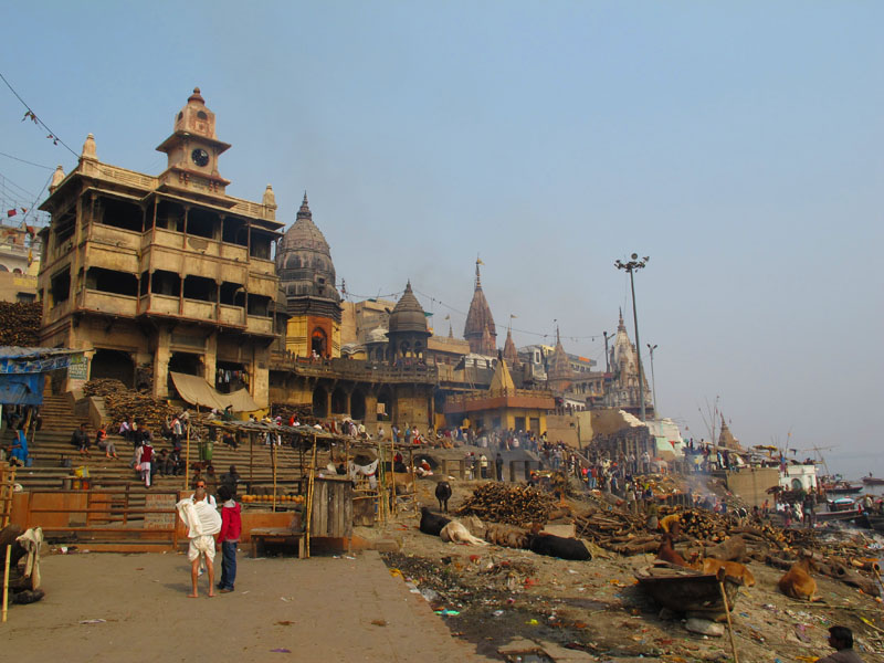 Manikarnika Burning Ghat in Varanasi, India